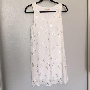 Gianni Bini Dresses - GB White and Silver Tank Dress